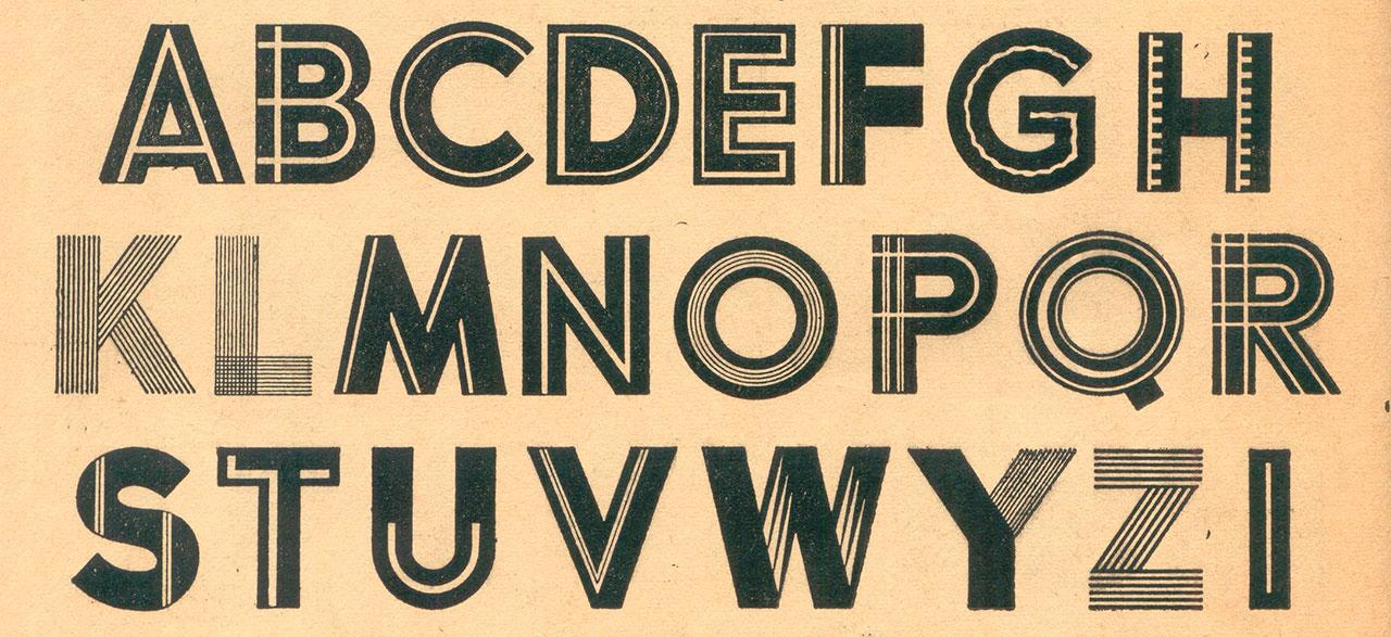 100 alphabets publicitaires – 1946