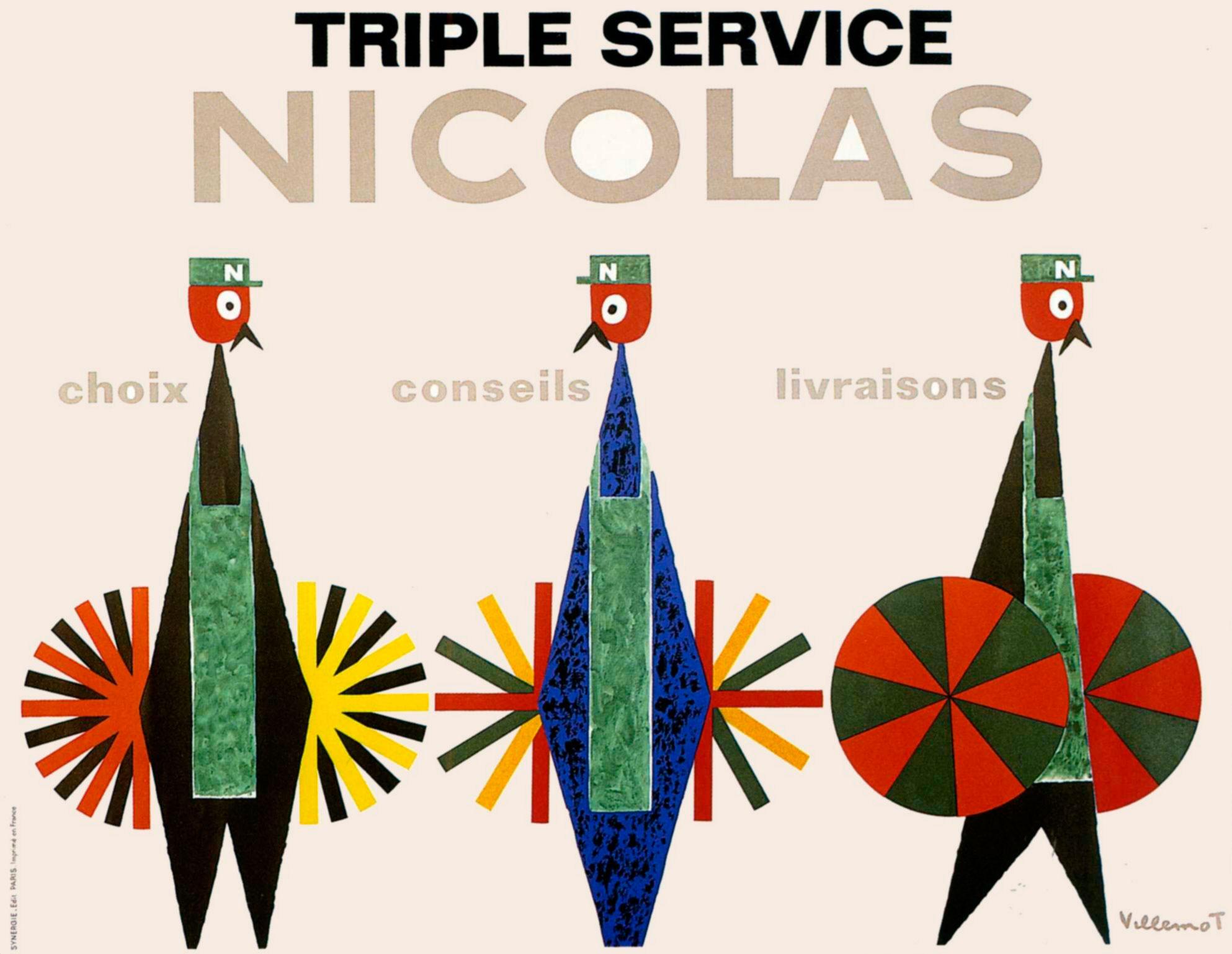 1964-vin-nicolas-triple-service-nectar-villemot-