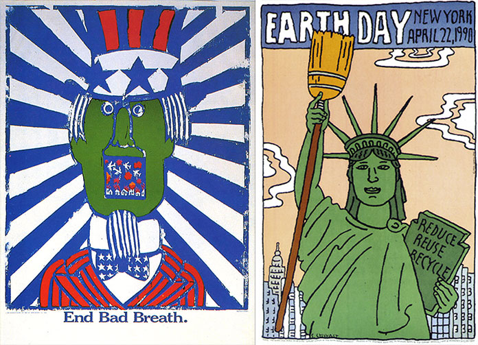 seymour-chwast-affiche-end-bad-breath-earth-day