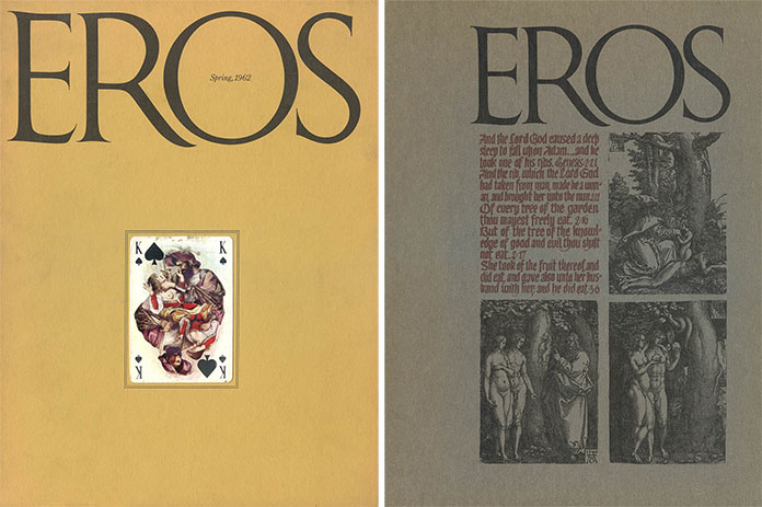 eros-magazine-herbert-lubalin-couverture-vol1-no1-4-1962