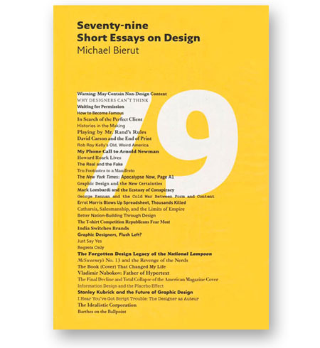 79 essays on design Including a history of the @ symbol, an exposé on design piracy, and more.
