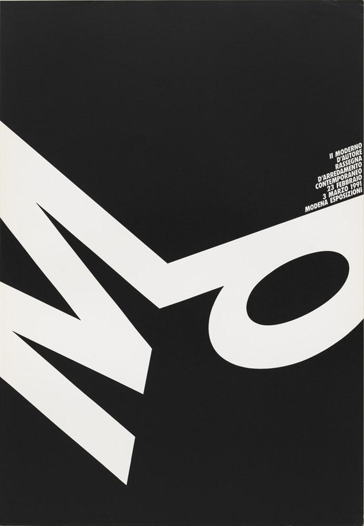 AG-Fronzoni-affiche-Il-Moderno-d-Autore-1991