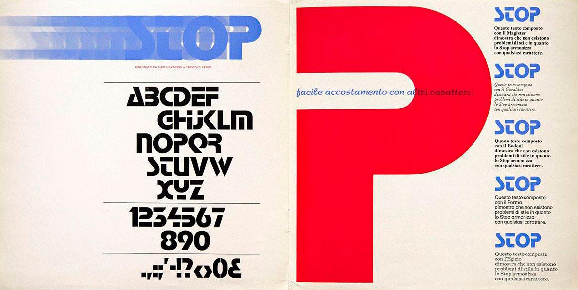 Aldo-Novarese-specimen-stop-fonderie-Nebiolo-1971-04