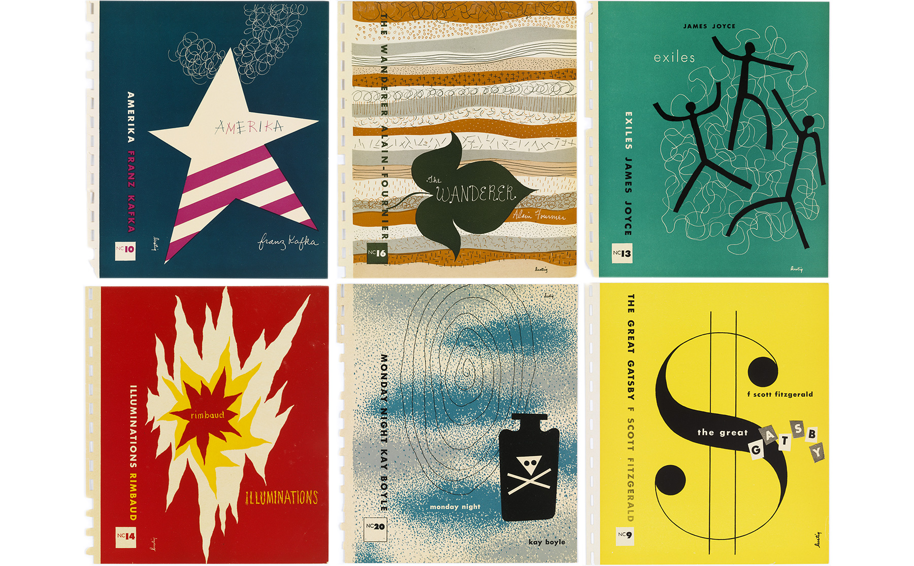 Alvin Lustig, couvertures pour la collection New Classics.