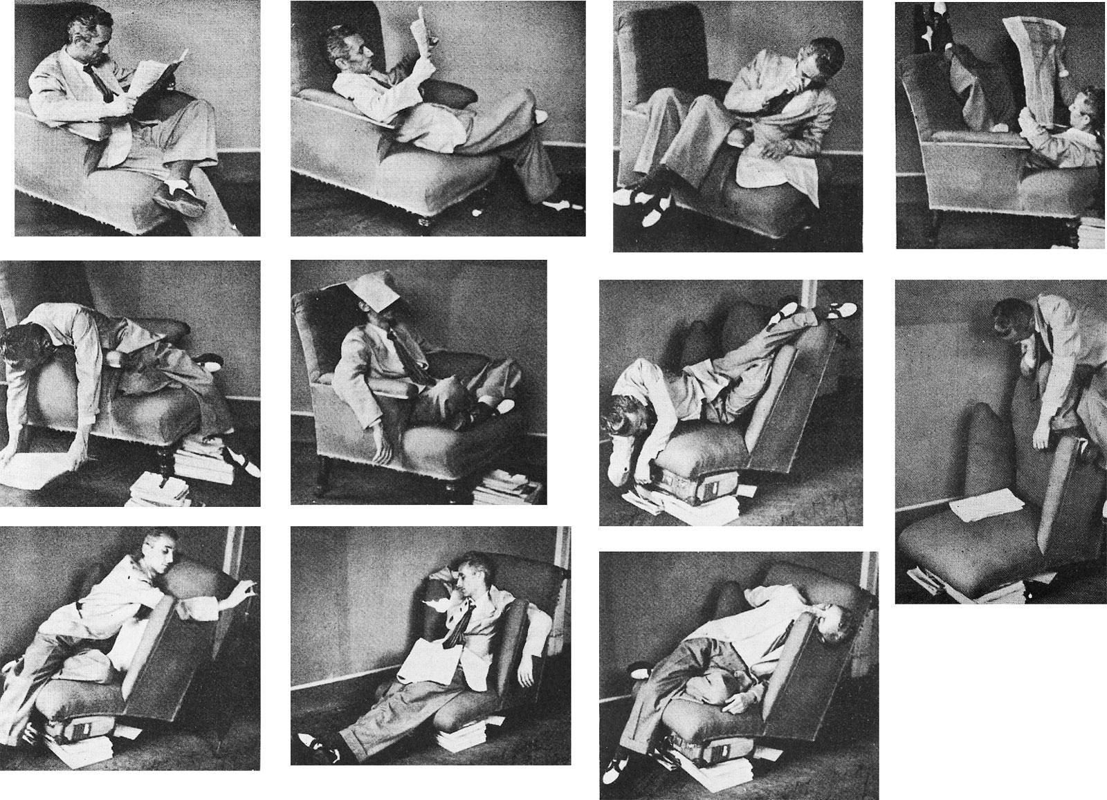 Recherche du confort dans un fauteuil inconfortable