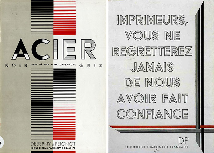 Cassandre-specimen-typographie-Acier-1930