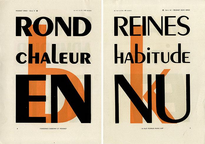 Cassandre-specimen-typographie-Peignot-1937
