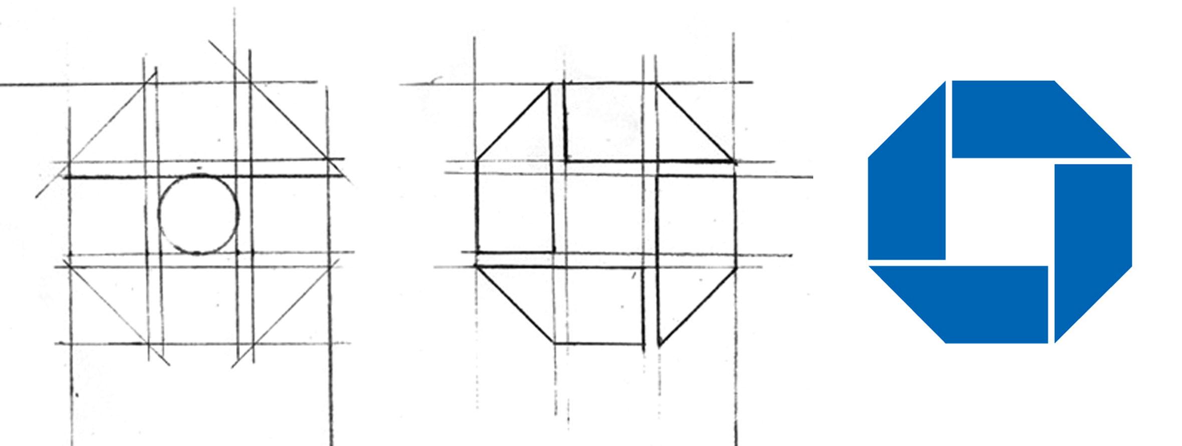Chermayeff-and-Geismar-Chase-Manhattan-Bank-logo-sketch-identite-1960