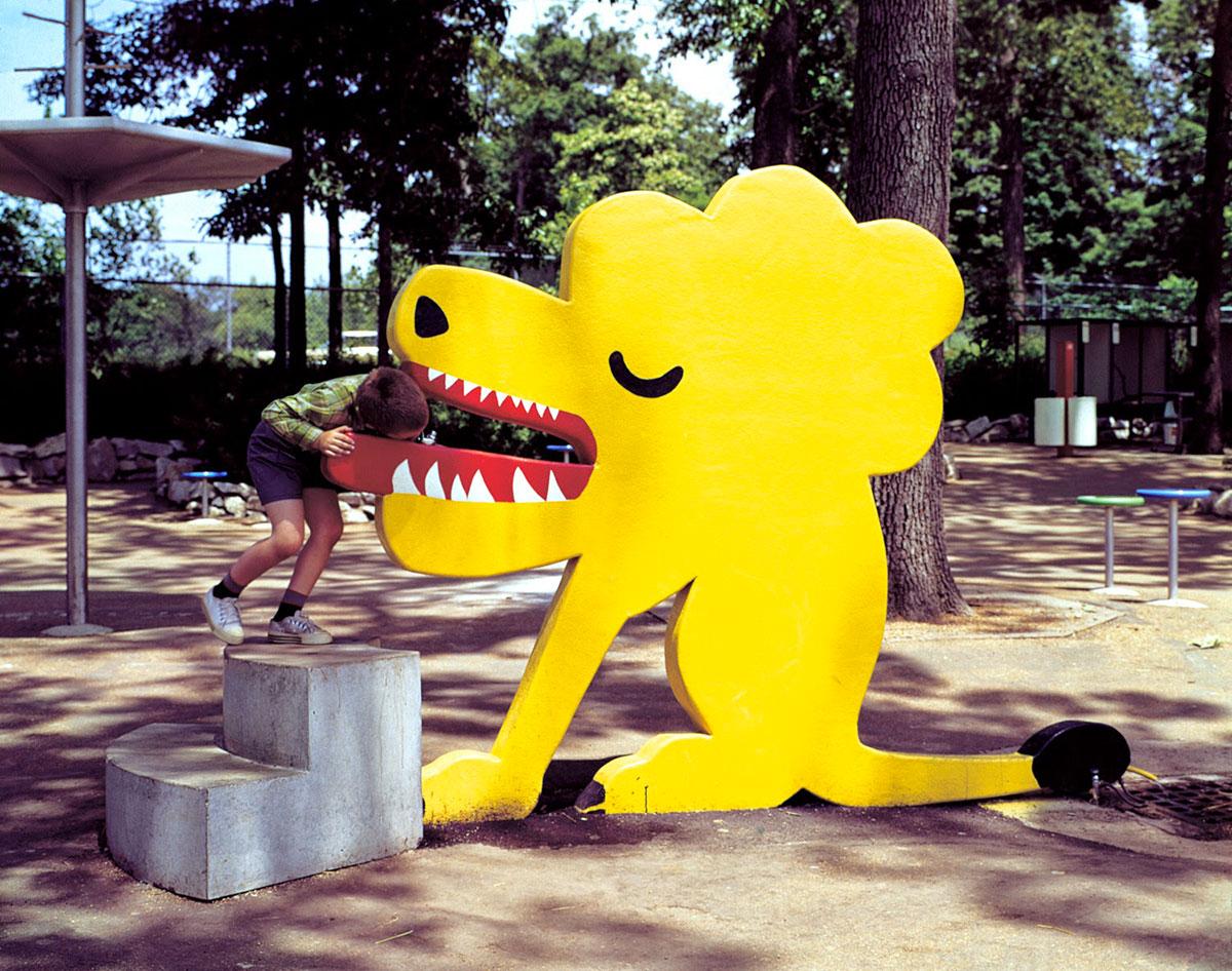 Chermayeff-and-Geismar-fontaine-a-eau-zoo-saint-louis-lion