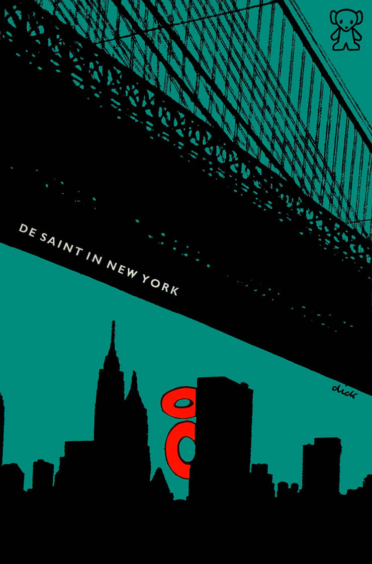 Dick-Bruna-illustrateur-NL-couverture-livre-De-Saint-in-New-York