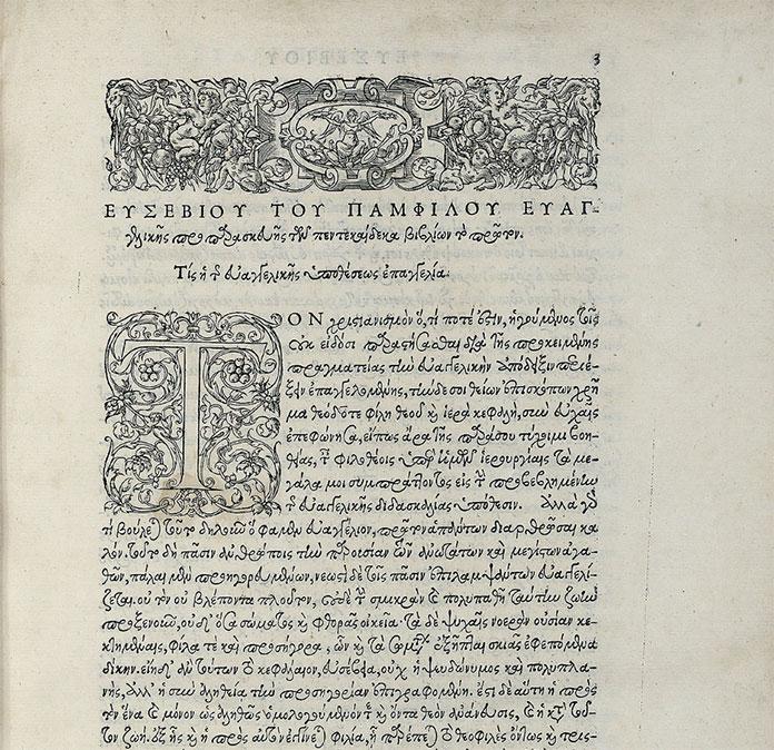 Ecclesiasticae-historiae,-Eusebe-de-Cesaree-Paris-Robert-Estienne-1544