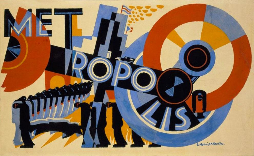 Edward-McKnight-Kauffer-affiche-1927-Metropolis