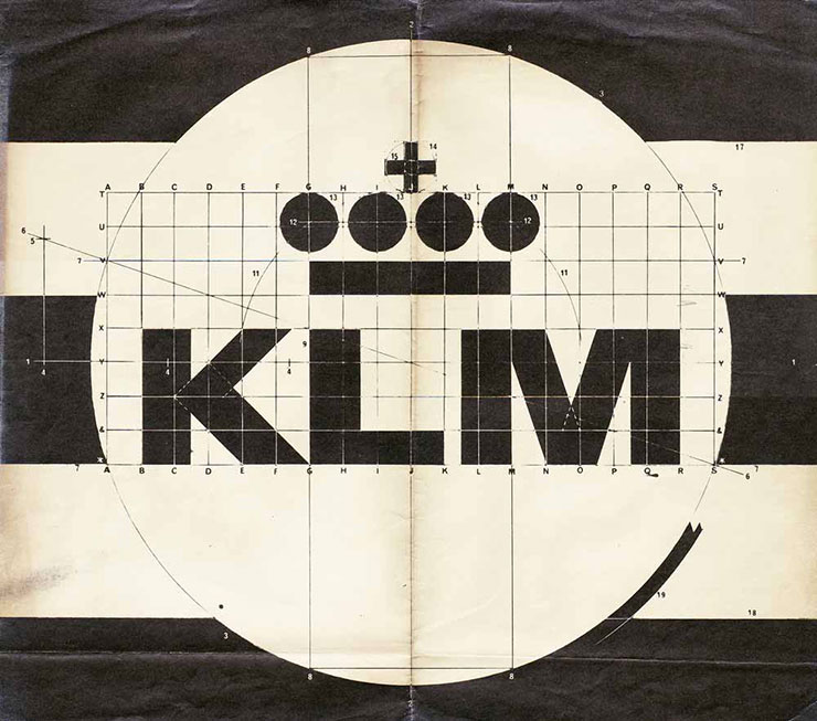 Frederic-Henri-Kay-Henrion-KLM-logo-drawing-1963