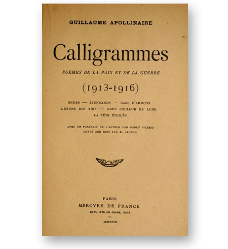 Guillaume-Apollinaire-Calligrammes-1918-bibliotheque-index-grafik-cover
