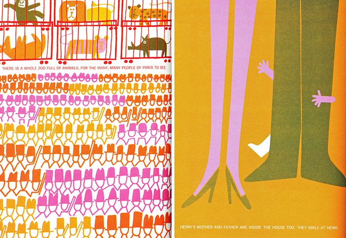 Henri-s-walk-to-Paris-saul-bass-livre-illustraion