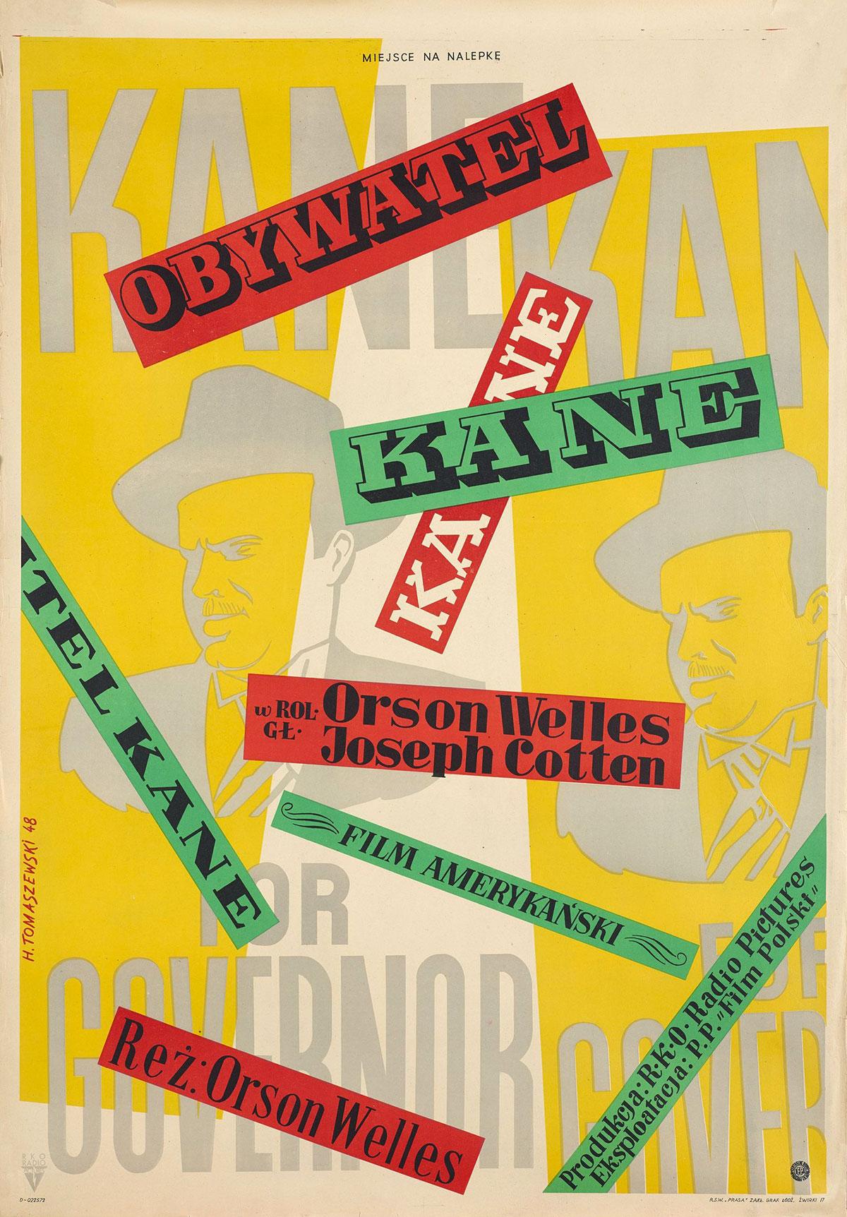 Henryk-Tomaszewski-affiche-film-Obywatel-Kane-1948