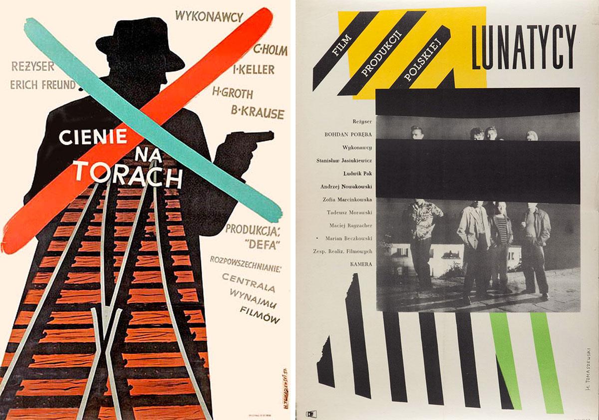 Henryk-Tomaszewski-affiches-lunatycy-ciene-na-torach