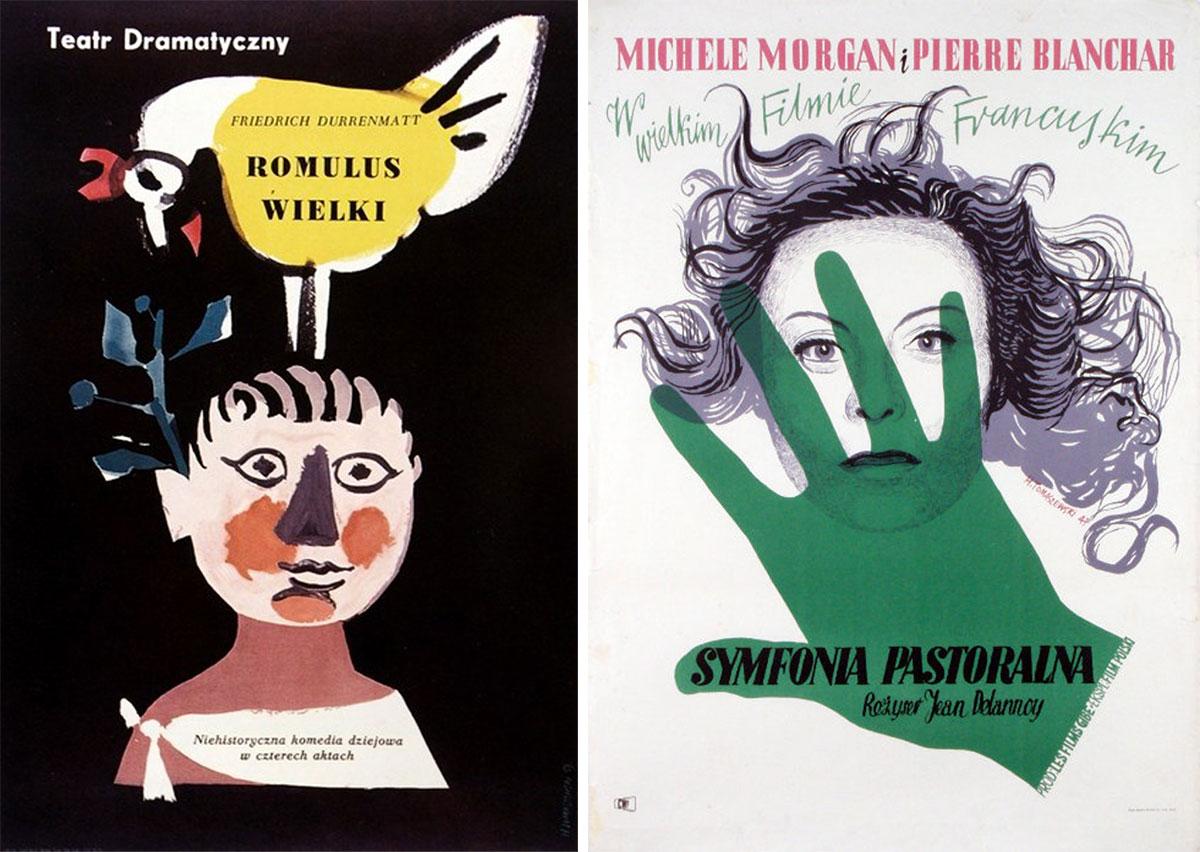 Henryk-Tomaszewski-affiches-romulus-wielki-symfonia-pastoralna
