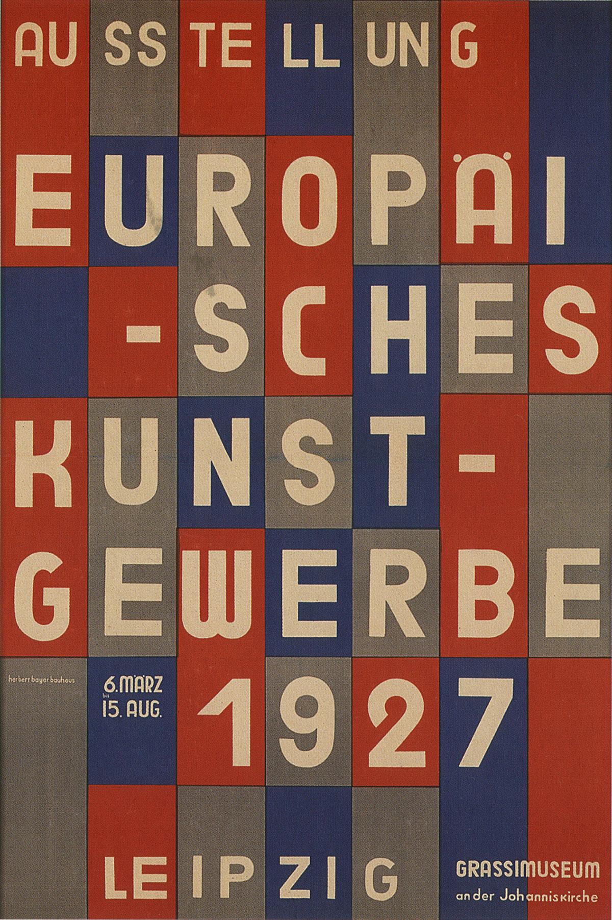 Herbert-Bayer-affiche-Ausstellung-Europaisches-Kunstgewerbe-1927