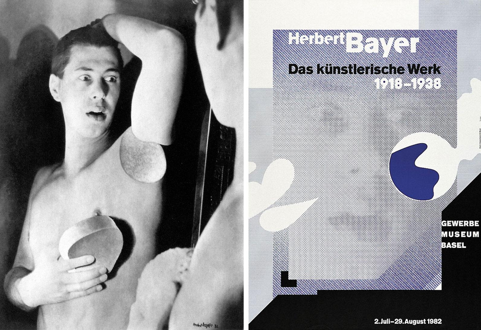 Herbert-Bayer-autoportrait-1932-affiche-exposition-Wolfgang-weinghart