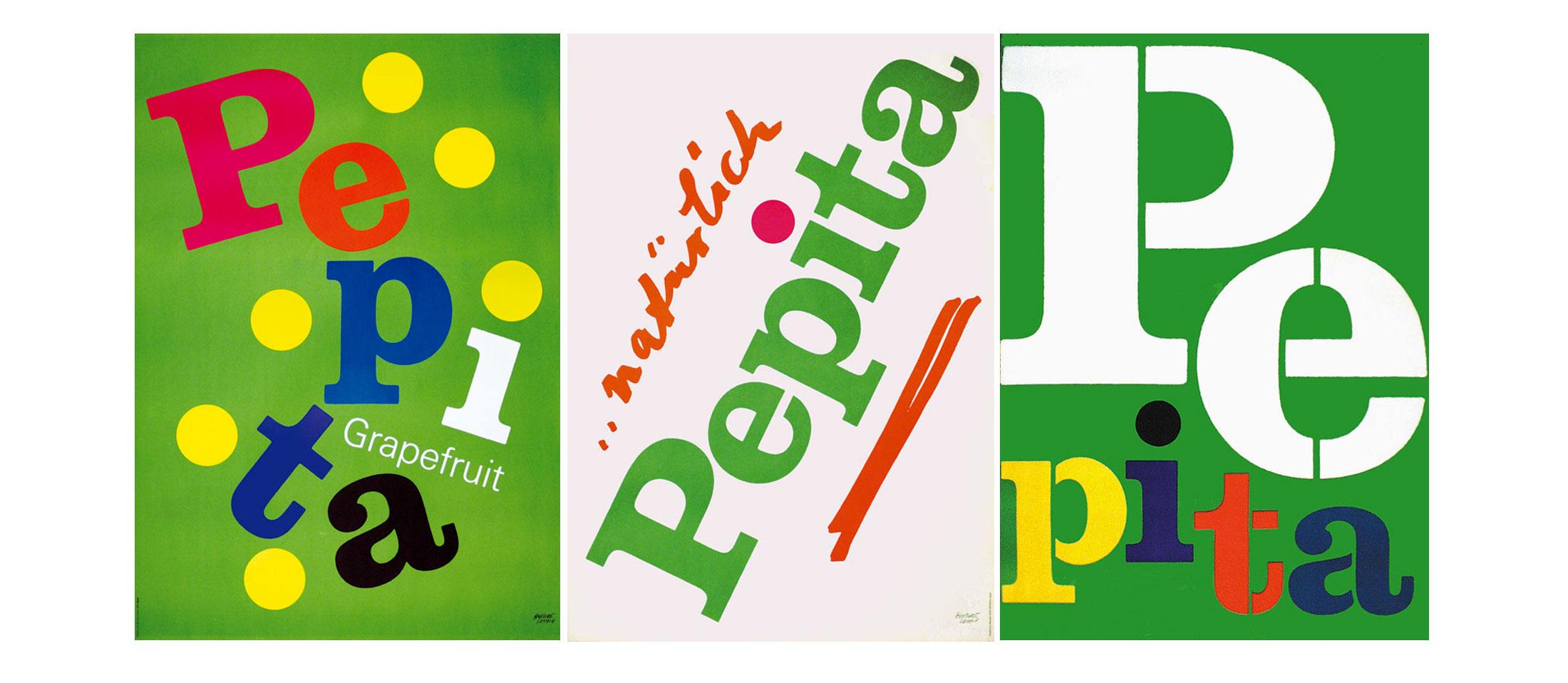Herbert-Leupin-graphiste-CH-affiches-boisson-pepita-typo