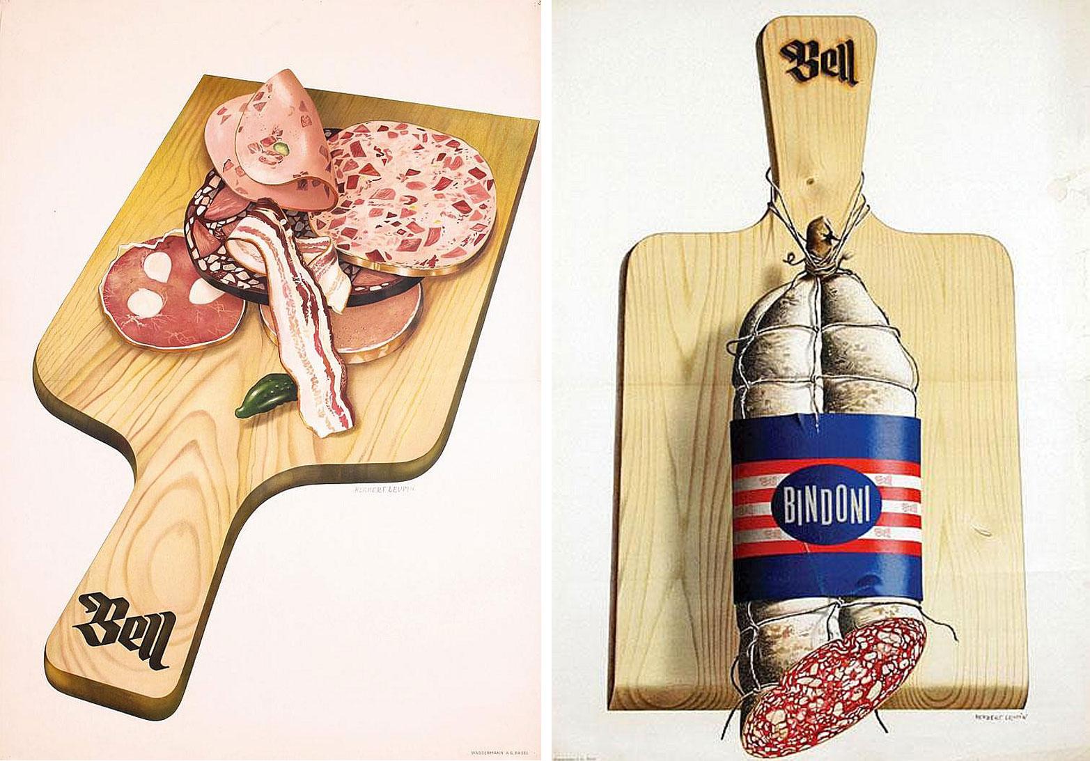 Herbert-Leupin-graphiste-CH-affiches-boucherie-Bell-1939