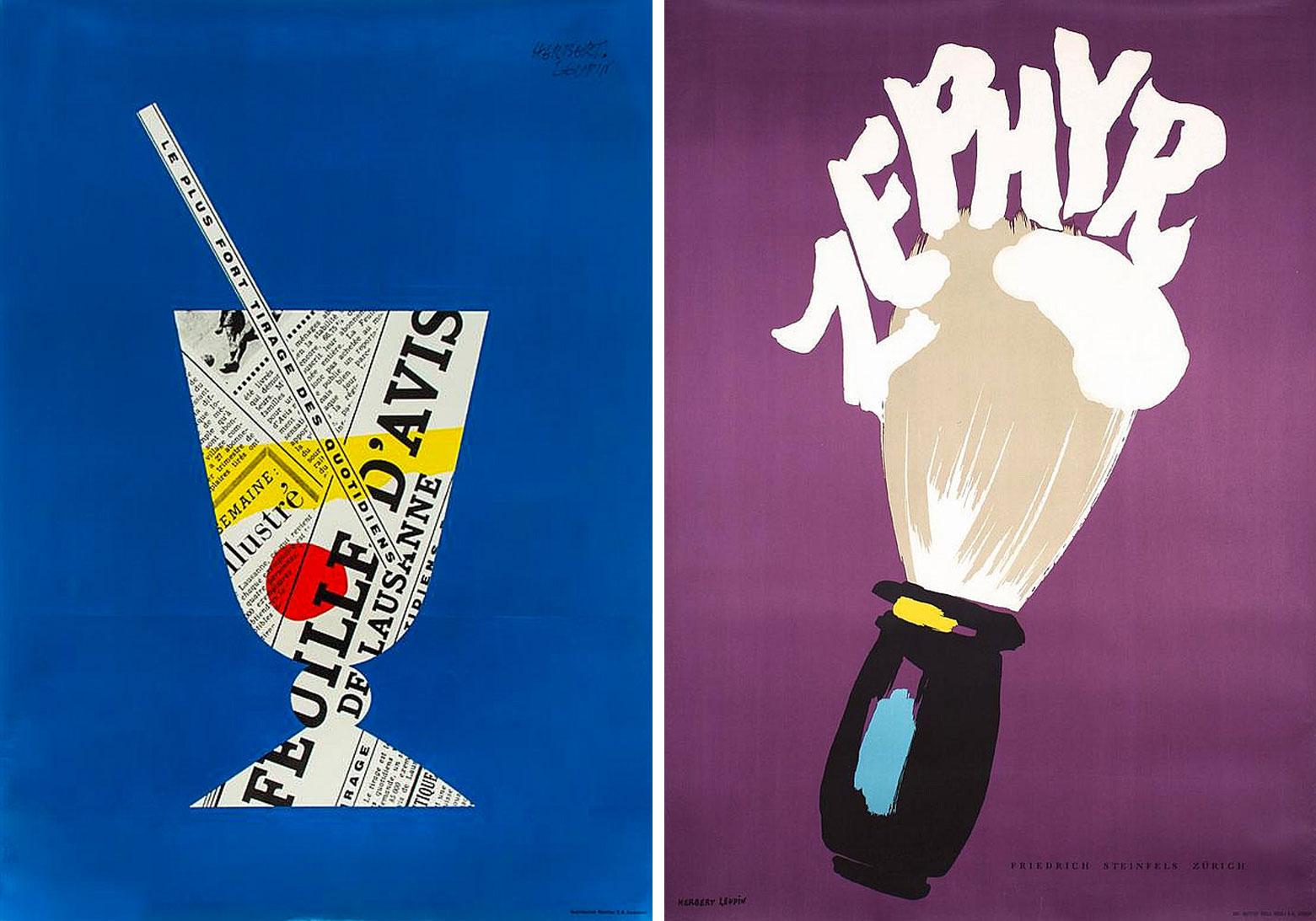Herbert-Leupin-graphiste-CH-affiches-feuille-d-avis-zephyr