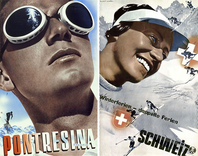 Herbert-Matter-affiches-tourisme-suisse-pontresina-1934-1936-