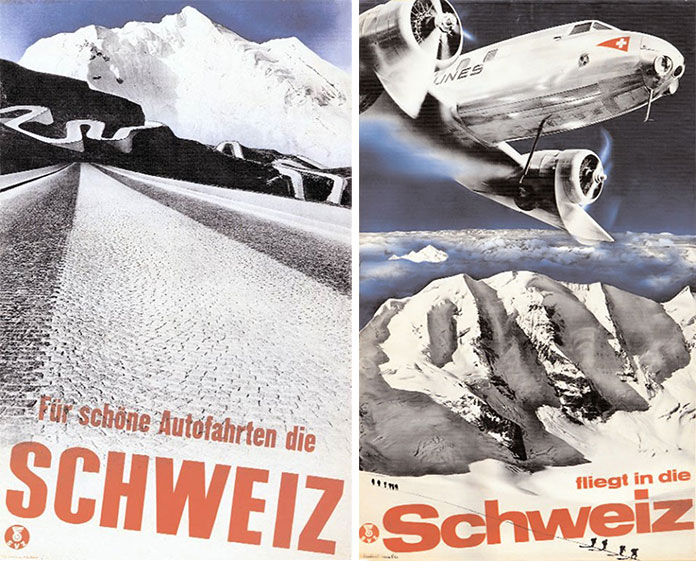 Herbert-Matter-affiches-tourisme-suisse-venez-en-suisse-par-avion-1934