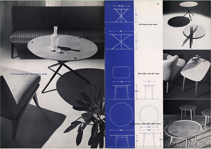 Herbert-Matter-knoll-brochure-table