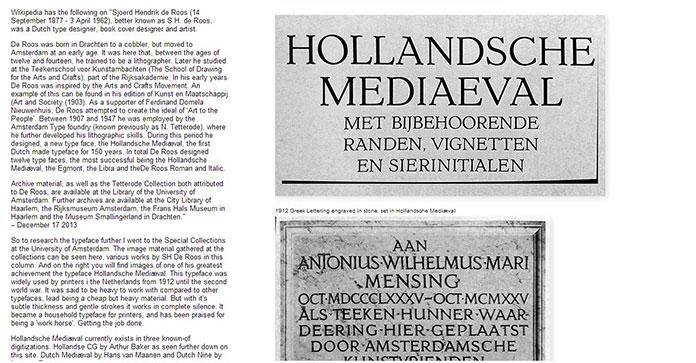 Hollandsche-Mediæval-SHOW-INFO-site-typographie-Gerrit-Rietveld-Academie