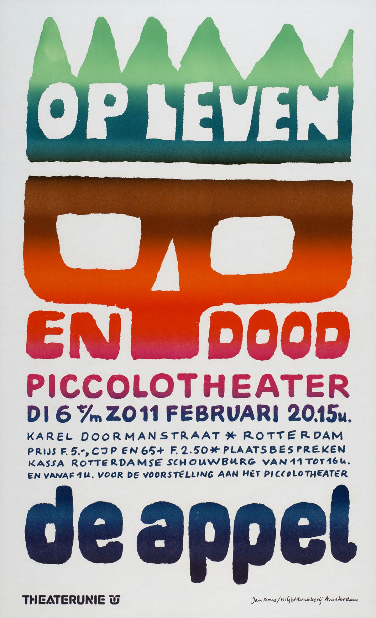 Jan-Bons-affiche-Op-leven-en-dood-De-Appel-1972