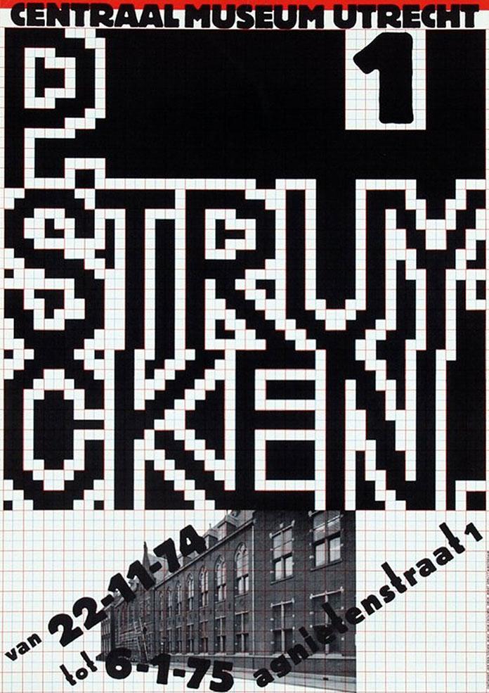 Jan Van Toorn P. Struycken affiche 1974