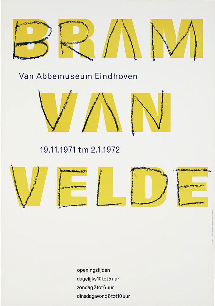 Jan Van Toorn affiche Bram Van Velde 1972