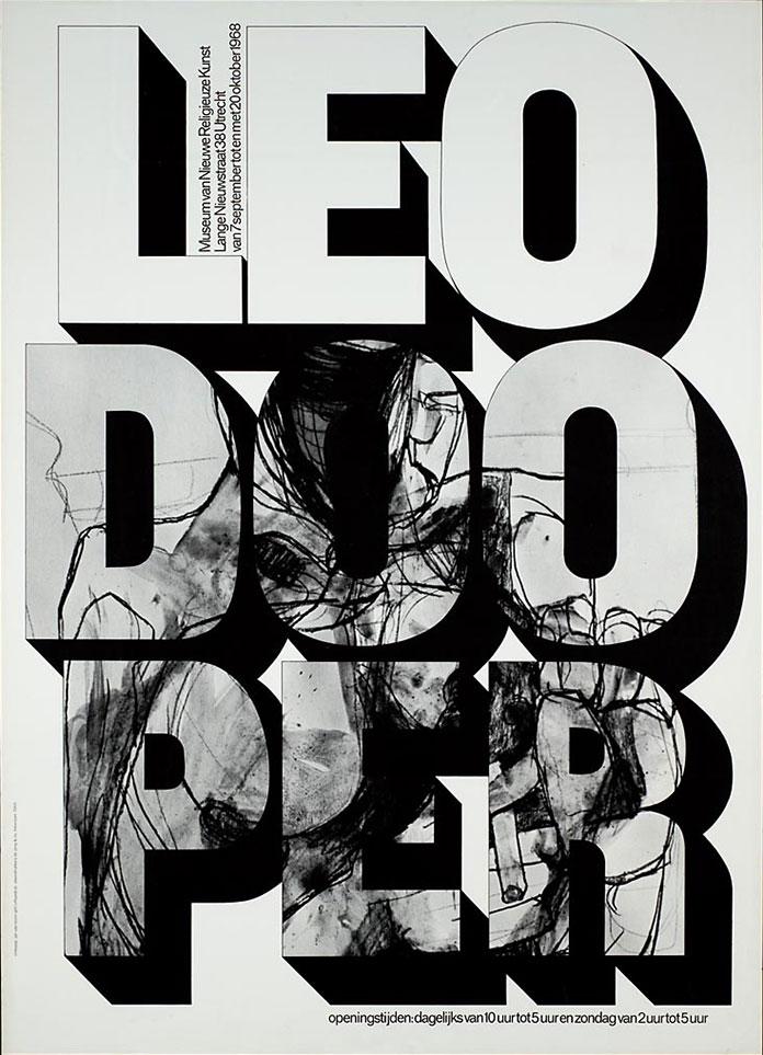 Jan Van Toorn affiche Leo Doopler 1968