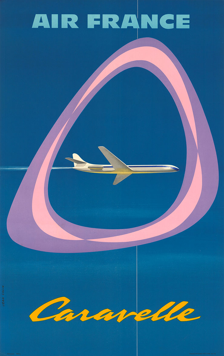 Jean-Colin-affiche-air-france-caravelle