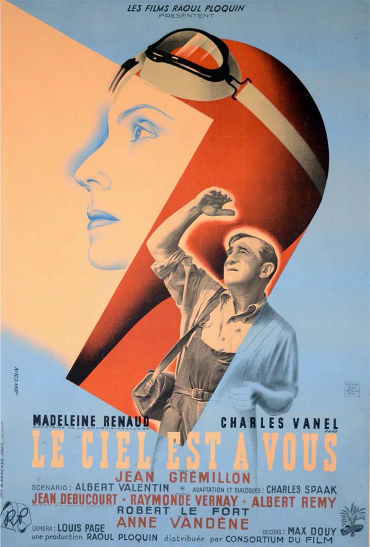 Jean-Colin-affiche-film-le-ciel-est-a-vous-1943