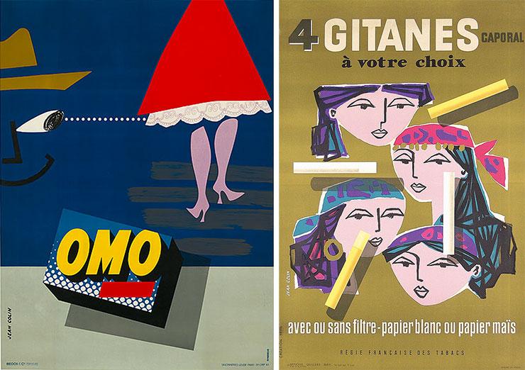 Jean-Colin-affiches-OMO-Gitanes