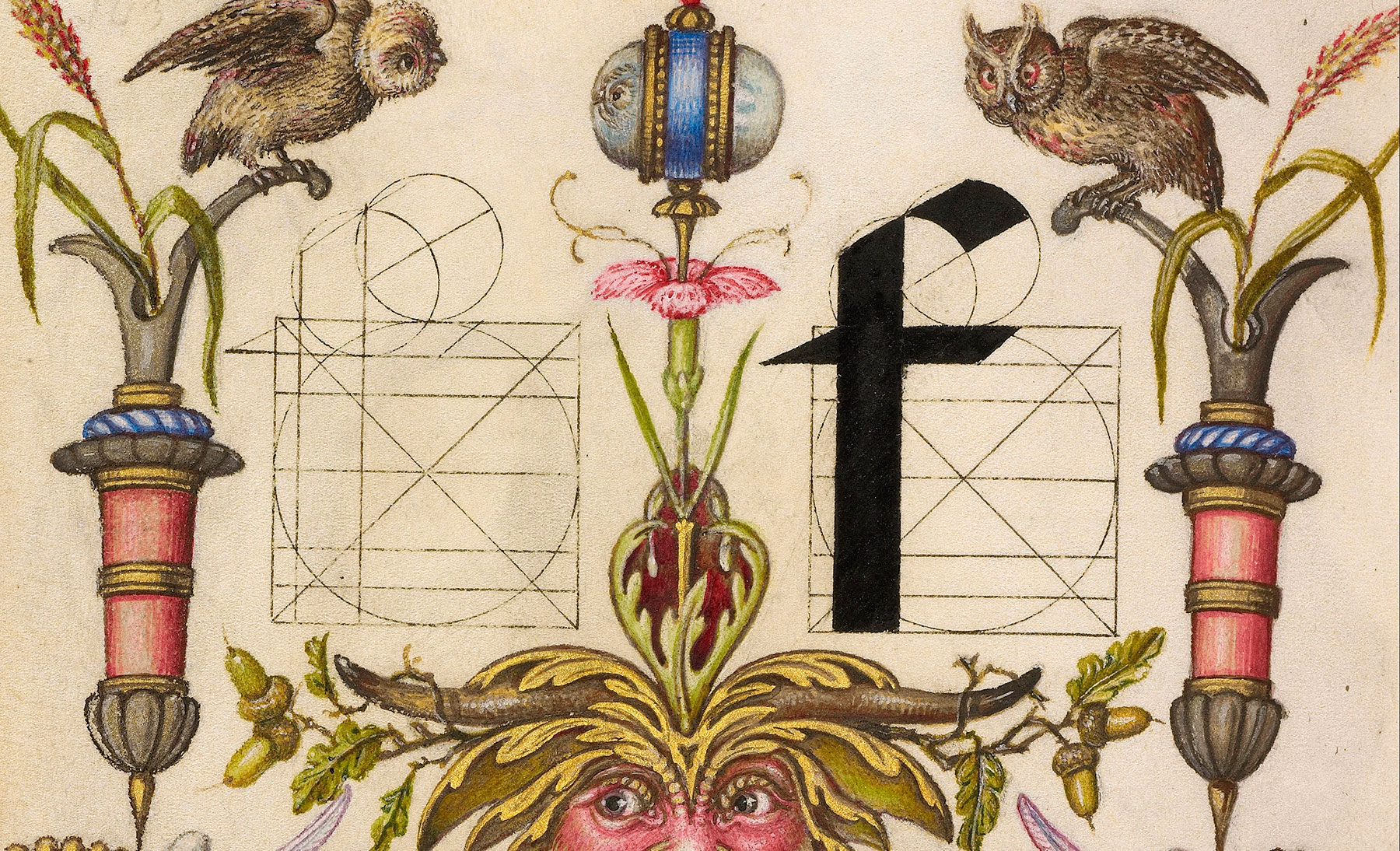 Joris Hoefnagel – Guide to Constructing the Letters – 1595