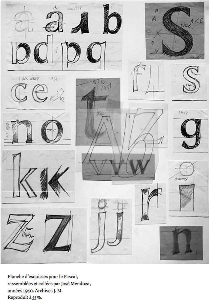 Jose-mendoza-typographie-pascal-esquisses-1950