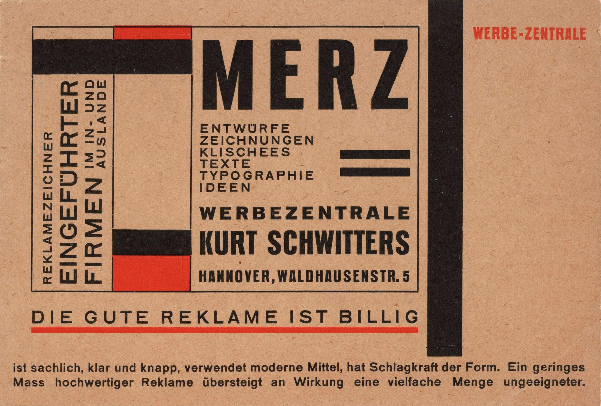 Kurt-Schwitters-carte-postal-Merz-1925–27