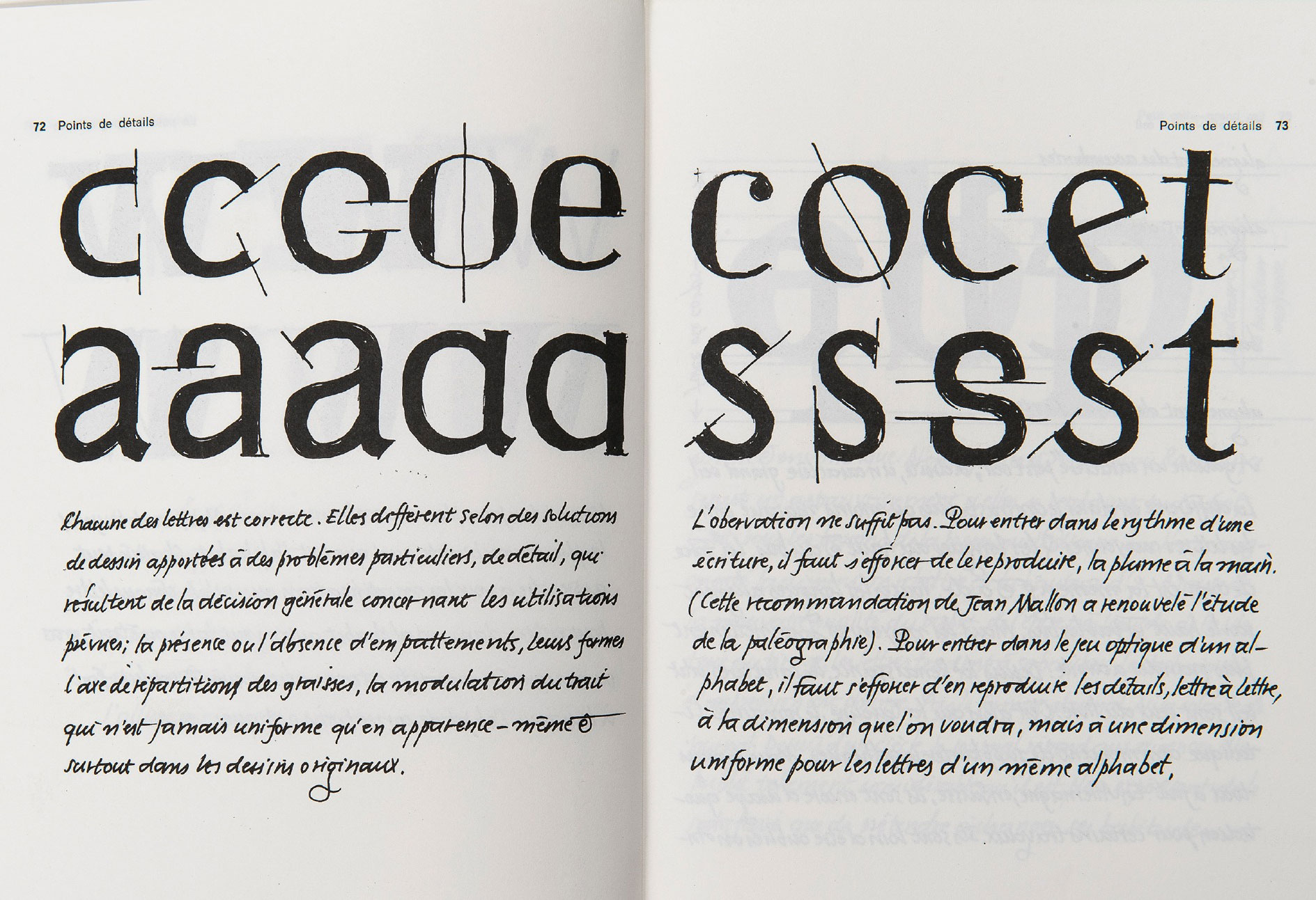 La typographie au tableau noir – Fernand Baudin