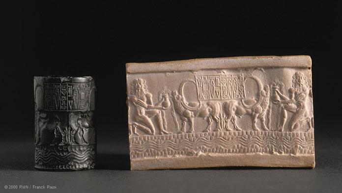 Le-sceau-cylindre-d'Ibni-Sharrum-