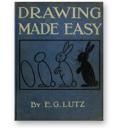 Livre-dessin-Drawing-made-easy--Edwin-George-Lutz-1868-couverture-bibliotheque-index-grafik-
