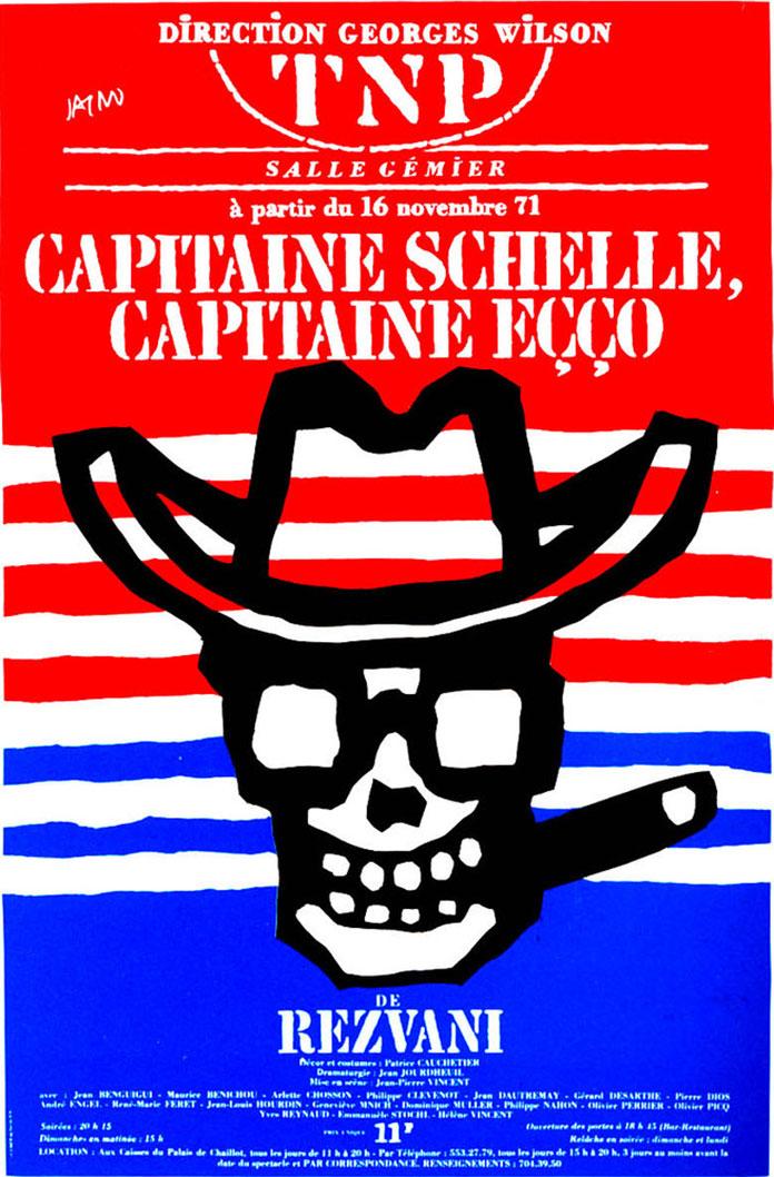 Marcel-Jacno-affiche-TNP-1971-capitaine-schelle-capitaine-ecco
