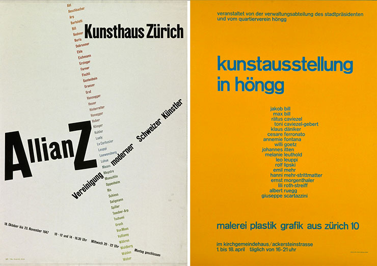 Max-Bill-affiches-Allianz-1947-kunstausstellung-in-hongg