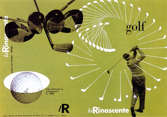 Max-Huber-La-Rinascente-golf-1951-couverture-catalogue