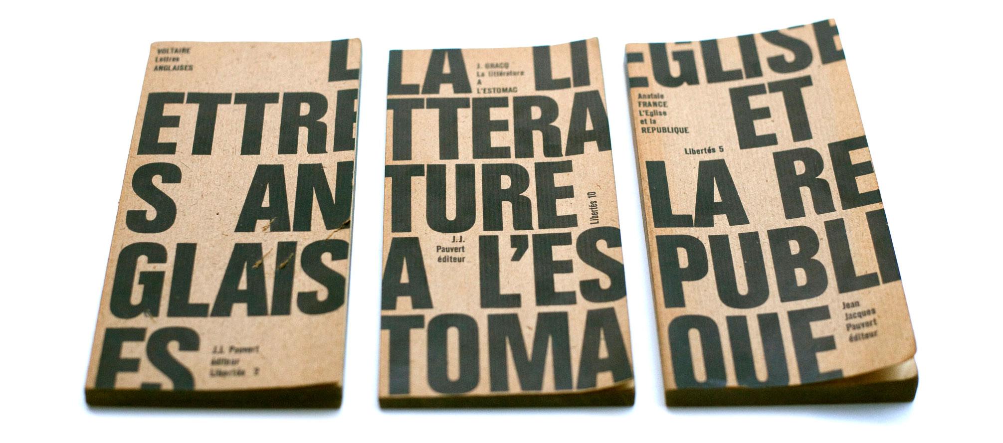 Pierre-Faucheux-Jean-Jacques-Pauvert-Libertes-collection-livres-couverture-1964-1968