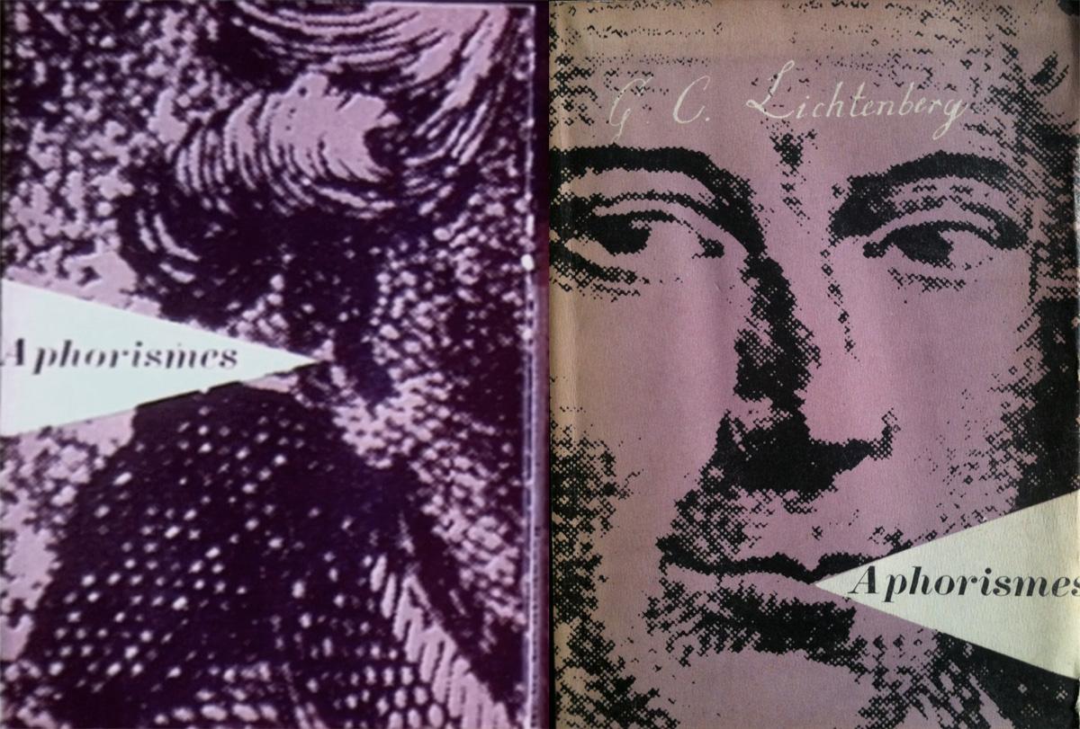 Pierre Faucheux couverture Aphorismes Lichtenberg Aphorisme Club francais du livre 1947