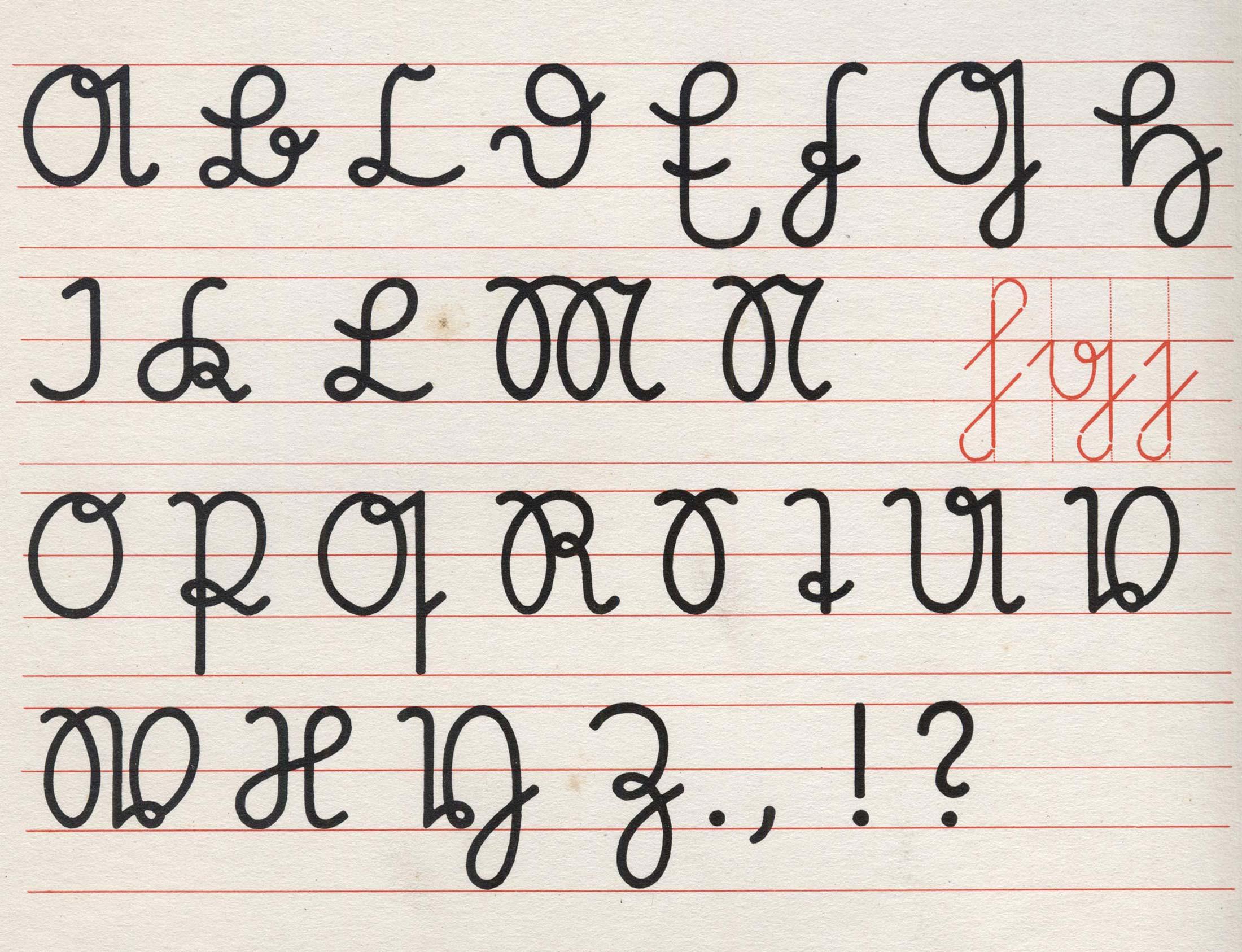 Polices d'apprentissage de l'écriture